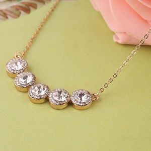 Bling Austrian Crystal Pendant Round 21 Chain